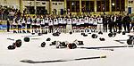 09.01.2020, BLZ Arena, Füssen / Fuessen, GER, IIHF Ice Hockey U18 Women's World Championship DIV I Group A, <br /> Siegerehrung, <br /> im Bild Team Deutschland als Turniersieger, kurz vor dem Apspielen der Nationalhymne<br /> <br /> Foto © nordphoto / Hafner