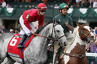 Turallure and Julien Leparoux in the Grade 1 Maker's 46 Mile at Keeneland Racecourse.  April 13, 2012.