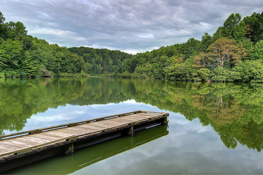 A dock on the lake in Buckingham County, VA. Photo/Andrew Shurtleff