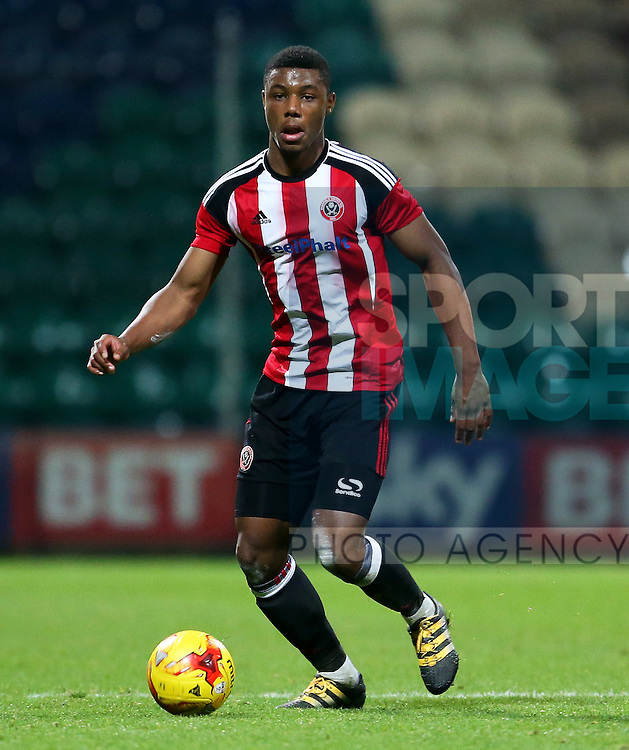 Sam Graham of Sheffield United U18's during the FA Youth Cup 3rd Round match at Deepdale Stadium, Preston. Picture date: November 30th, 2016. Pic Matt McNulty/Sportimage