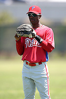 March 30, 2010:  Rudney Balentien of the Philadelphia Phillies organization during Spring Training at Carpenter Complex in Clearwater, FL.  Photo By Mike Janes/Four Seam Images