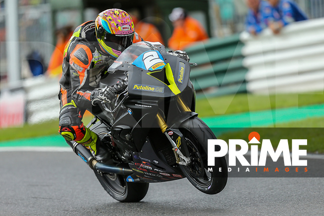 Jordan RUSHBY (2) of the Pirelli National Superstock 1000 Championship in association with Black Horse BMW Alliance Steel Racing team during the Sunday race at the Bennetts British Superbike Championship Round BSB Round 8 (Sunday) at Cadwell Park Circuit, Louth, England on 19 August 2018. Photo by David Horn.
