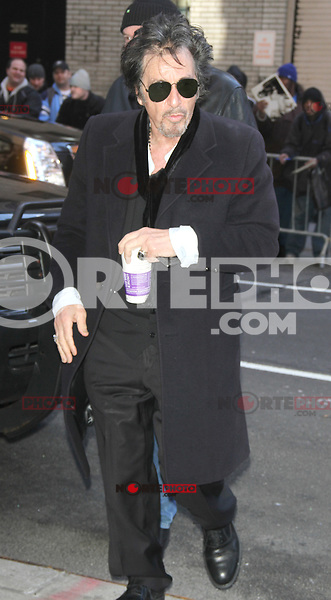 NEW YORK, NY - JANUARY 31: Al Pacino at Late Show with David Letterman in New York City. January 31, 2013. Credit: RW/MediaPunch Inc.