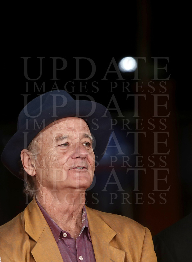 "L'attore statunitense Bill Murray posa durante il red carpet per la presentazione del film ""Motherless Brooklyn"" alla 14^ Festa del Cinema di Roma all'Aufditorium Parco della Musica di Roma, 17 ottobre 2019.<br /> U.S. actor Bill Murray poses during the red carpetl to present the movie ""Motherless Brooklyn"" during the 14^ Rome Film Fest at Rome's Auditorium, on 17 october 2019.<br /> UPDATE IMAGES PRESS/Isabella Bonotto"