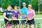 Enjoying Tralee Tennis Club  Tennis Charity Day in aid of the National Council for the Blind Ireland (NCBI) on Saturday were l-r  Gemma Lockheed, Brenda Donnelllan, Fraser Donnellan and Fiona Ringland