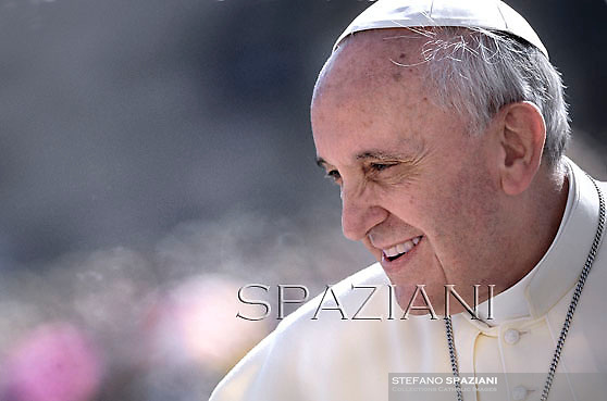 Pope Francis during his weekly general audience in St. Peter square at the Vatican, Wednesday. 25 September  2013