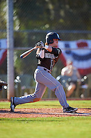 St. Bonaventure Bonnies second baseman Jared Baldinelli (6) at bat during a game against the Dartmouth Big Green on February 25, 2017 at North Charlotte Regional Park in Port Charlotte, Florida.  St. Bonaventure defeated Dartmouth 8-7.  (Mike Janes/Four Seam Images)