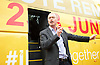 Liberal Democrats Remain IN Campaign event with their battle bus in Mile End, London, Great Britain <br /> 19th June 2016 <br /> <br /> Tim Farron MP<br /> Leader of the Liberal Democrats <br /> <br /> <br /> Photograph by Elliott Franks <br /> Image licensed to Elliott Franks Photography Services
