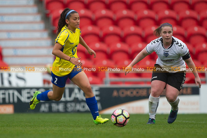 Maz Pacheco strides out for Belles during Doncaster Rovers Belles vs Durham Women, FA Women's Super League FA WSL2 Football at the Keepmoat Stadium on 16th April 2017