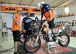BAJA CALIFORNIA, MEXICO - NOVEMBER 14:  Kurt Casselli of the FMF/Bonanza Plumbing KTM team tests out his bike in the KTM Shop on November 14, 2013 in Baja California, Mexico. (Photo by Donald Miralle for ESPN the Magazine) *** Local Caption ***Kurt Casselli