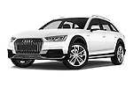 Stock pictures of low aggressive front three quarter view of 2017 Audi A4-Allroad Design-Luxe 5 Door wagon Low Aggressive