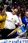 Real Madrid's supporters during Liga Endesa match between Real Madrid and FC Barcelona Lassa at Wizink Center in Madrid, Spain. March 24, 2019.  (ALTERPHOTOS/Alconada)