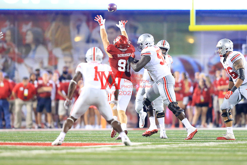 The Ohio State University football team opens the 2017 season with a win 49-21, at Indiana University in Bloomington, IN. August 31, 2017