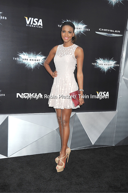 "Miss Universe Leila Lopes attends the world premiere of ""The Dark Knight Rises"" on .July 16, 2012 at The AMC Lincoln Square Imax Theatre in New York City. The movie stars Christian Bale, Gary Oldman, Anne Hathaway, Tom Hardy, Marion Cotillard, Joseph Gordon-Levitt and Morgan Freeman."