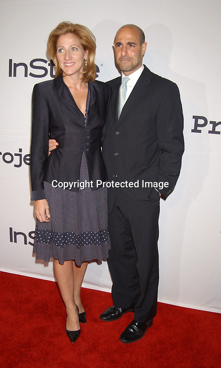 ..Edie Falco and Stanley Tucci ..at the 6th Annual New York City Gala to benefit Project ALS on October 20, 2003 at the Hammerstein Ballroom ...Photo by Robin Platzer, Twin Images