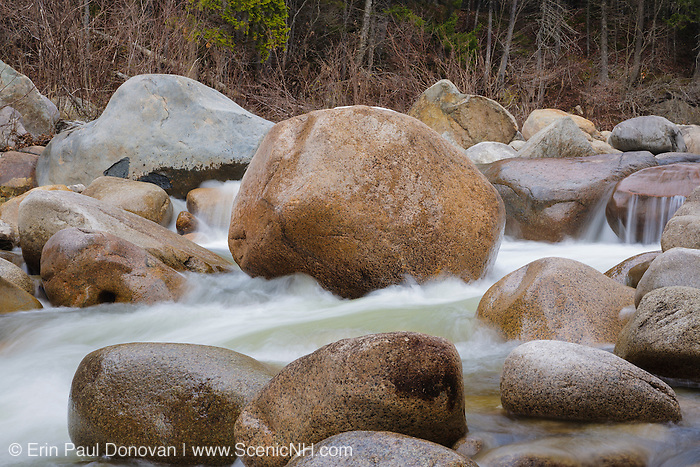 East Branch of the Pemigewasset River in the Pemigewasset Wilderness of Lincoln, New Hampshire USA.