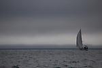 Sailing yacht in Isjforden, Svalbard
