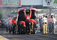 Apr. 29, 2011; Baytown, TX, USA: NHRA funny car driver Cruz Pedregon during qualifying for the Spring Nationals at Royal Purple Raceway. Mandatory Credit: Mark J. Rebilas-