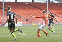 Blackpool's Sean Longstaff gets a shot on goal<br /> <br /> Photographer Mick Walker/CameraSport<br /> <br /> The EFL Sky Bet League One - Blackpool v Bristol Rovers - Saturday 13th January 2018 - Bloomfield Road - Blackpool<br /> <br /> World Copyright &copy; 2018 CameraSport. All rights reserved. 43 Linden Ave. Countesthorpe. Leicester. England. LE8 5PG - Tel: +44 (0) 116 277 4147 - admin@camerasport.com - www.camerasport.com