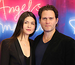 """Phillipa Soo and Steven Pasquale attends the Broadway Opening Night Arrivals for """"Angels In America"""" - Part One and Part Two at the Neil Simon Theatre on March 25, 2018 in New York City."""