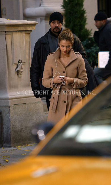 WWW.ACEPIXS.COM . . . . .  ....NEW YORK, NOVEMBER 17, 2005....Jessica Alba on the set of her upcoming movie 'Awake'.....Please byline: JENNIFER L GONZELES-ACE PICTURES.... *** ***..Ace Pictures, Inc:  ..Craig Ashby (212) 243-8787..e-mail: picturedesk@acepixs.com..web: http://www.acepixs.com