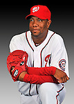 25 February 2011: Washington Nationals' pitcher Livan Hernandez poses for his Photo Day portrait at Space Coast Stadium in Viera, Florida. Mandatory Credit: Ed Wolfstein Photo