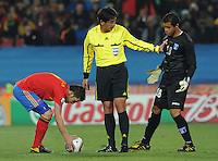 Spain defeated Honduras, 2-0, in their second match of play in Group H  in a match played Monday, June 21st, at Ellis Park in Johannesburg, South Africa at the 2010 FIFA World Cup..