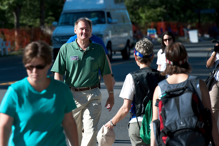 Keith S Fimian, greets constituents during the 4th of July Parade in downtown Fairfax Virginia, July 3, 2010.