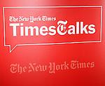 Matt Damon & Gus Van Sant backstage at TimesTalks at the Times Center in New York City. November 27, 2012.