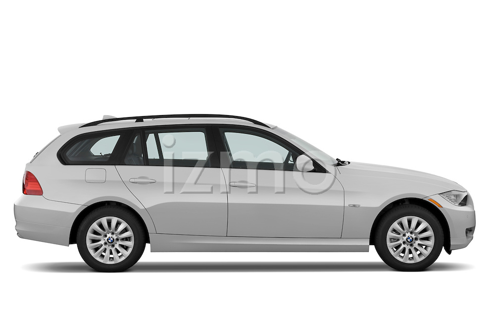 Passenger side profile view of a 2009 bmw 3 series wagon 328.