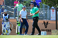 Patrick Reed (USA) watches his tee shot on 10 during round 2 of the Valero Texas Open, AT&amp;T Oaks Course, TPC San Antonio, San Antonio, Texas, USA. 4/21/2017.<br /> Picture: Golffile | Ken Murray<br /> <br /> <br /> All photo usage must carry mandatory copyright credit (&copy; Golffile | Ken Murray)