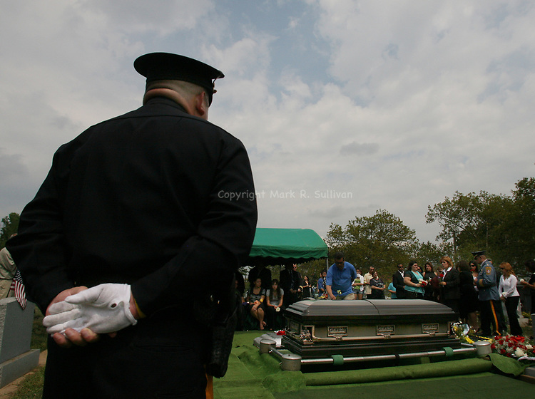 Funeral for Perth Amboy Police Officer Thomas Raji. Funeral at the Alpine Cemetery in Perth Amboy where Officer Raji was laid to rest.  <br /> <br /> METRO<br /> 3173<br /> ON MON AUG 25 ,2008<br /> MARK R. SULLIVAN/CHIEF PHOTOGRAPHER