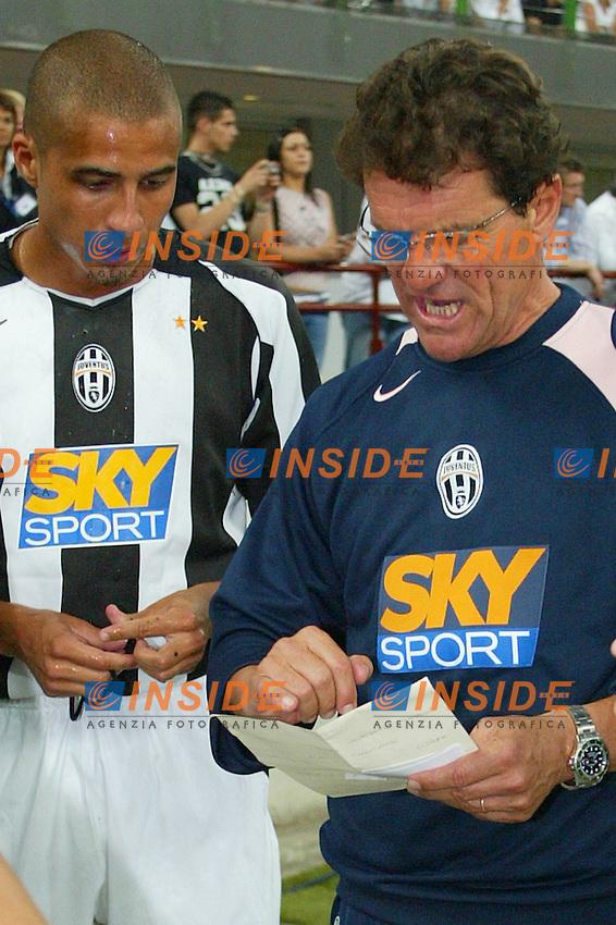 Milano 27/7/2004 Trofeo Tim - Tim tournament <br /> <br /> <br /> <br /> Fabio Capello, Juventus trainer and David Trezeguet<br /> <br /> Fabio Capello allenatore della Juventus e David Trezeguet<br /> <br /> <br /> <br /> Inter Milan Juventus <br /> <br /> Inter - Juventus 1-0<br /> <br /> Milan - Juventus 2-0<br /> <br /> Inter - Milan 5-4 d.cr - penalt.<br /> <br /> <br /> <br /> Photo Andrea Staccioli Insidefoto