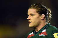Harry Thacker of Leicester Tigers looks on after the match. Aviva Premiership match, between Leicester Tigers and London Irish on January 6, 2018 at Welford Road in Leicester, England. Photo by: Patrick Khachfe / JMP