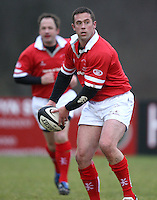 Jan Cunningham in action during the charity match between the Ulster 1999 XV and a Wooden Spoon Select XV at Shaw's Bridge Belfast.  Mandatory Credit - Photo : John Dickson