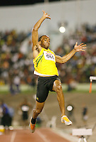 Herbert McGregor won the long jump with a mark of 7.74m at the Jamaica International Invitational Meet on Saturday, May 3rd. 2008. Photo by Errol Anderson, The Sporting Image.