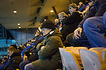 'Groundhoppers' watching the action at Meadowbank Stadium during the final game of four Saturday fixtures as Edinburgh City take on East Kilbride in a Scottish Lowland League match which ended 1-1. The match was one of six attended by members of GroundhopUK over the weekend to accommodate groundhoppers, fans who attempt to visit as many football venues as possible. Around 100 fans in two coaches from England participated in the 2016 Lowland League Groundhop and they were joined by other individuals from across the UK which helped boost crowds at the six featured matches.