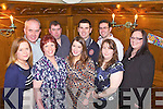 Enjoying a surprise 30th birthday night out was Anne O'Connell(centre) from Rockchapel, pictured here last Saturday night in Leen's Hotel, Abbeyfeale, also pictured l-r: Noreen Nelligan, Tony O'Connell, Sinead O'Halloran, Anne and James O'Connell, Leanne Coughlan,, Kieran Crowley and Julie O'Sullivan.