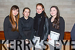 Christina Tumyuk, Zara Harnett, Claire Casey, Chloe Lynch  at the Mercy Mounthawk school Christmas Carol evening at St. Brendan's Church on Thursday