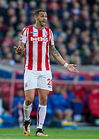 Geoff Cameron of Stoke City during the Premier League match between Stoke City and Manchester United at the Britannia Stadium, Stoke-on-Trent, England on 9 September 2017. Photo by Andy Rowland.