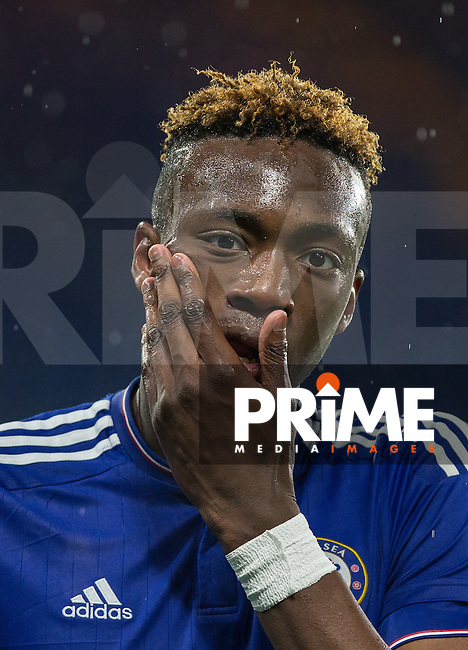 Tammy Abraham of Chelsea U18 during the FA Youth Cup FINAL match between Chelsea U18 and Man City U18 at Stamford Bridge, London, England on 27 April 2016. Photo by Andy Rowland.