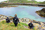 Looking for seals after landing on the island!
