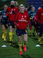 13th February 2020; Deva Stadium, Chester, Cheshire, England; Womens Super League Football, Liverpool Womens versus Arsenal Womens;  Leah Williamson of Arsenal Women