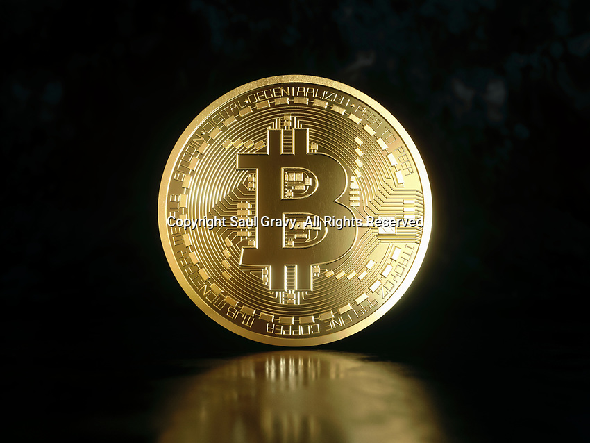 Single shiny new gold bitcoin