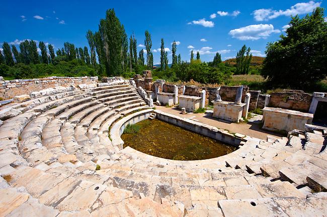 Roman Odeon Theatre of  Aphrodisias Archaeological site, Turkey