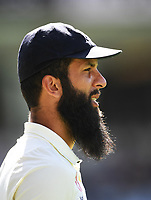 Moeen Ali.<br /> New Zealand Blackcaps v England. 1st day/night test match. Eden Park, Auckland, New Zealand. Day 4, Sunday 25 March 2018. &copy; Copyright Photo: Andrew Cornaga / www.Photosport.nz