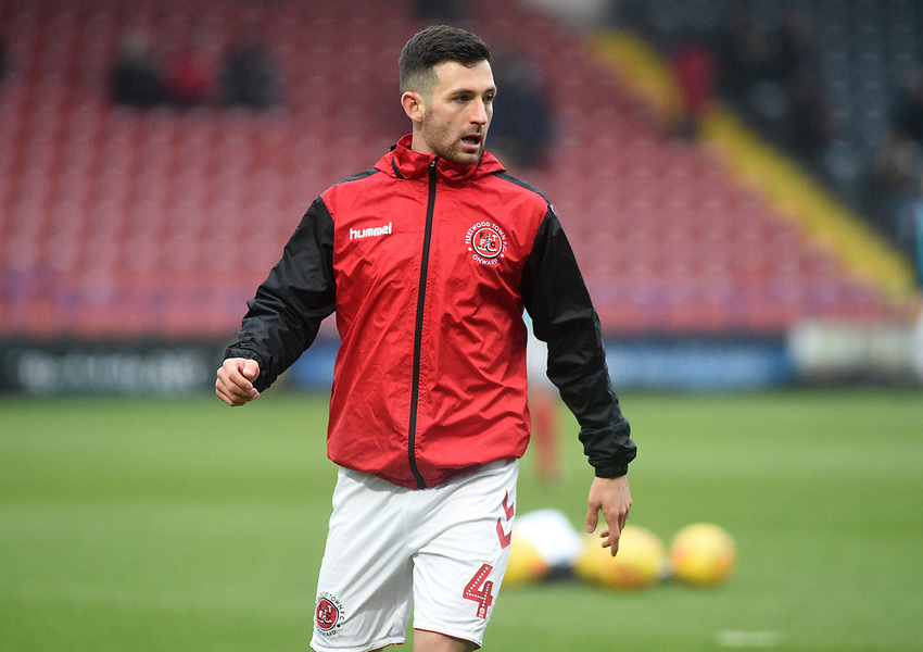 Fleetwood Town's Jason Holt during the pre-match warm-up <br /> <br /> Photographer Hannah Fountain/CameraSport<br /> <br /> The EFL Sky Bet League One - Rochdale v Fleetwood Town - Saturday 19 January 2019 - Spotland Stadium - Rochdale<br /> <br /> World Copyright © 2019 CameraSport. All rights reserved. 43 Linden Ave. Countesthorpe. Leicester. England. LE8 5PG - Tel: +44 (0) 116 277 4147 - admin@camerasport.com - www.camerasport.com