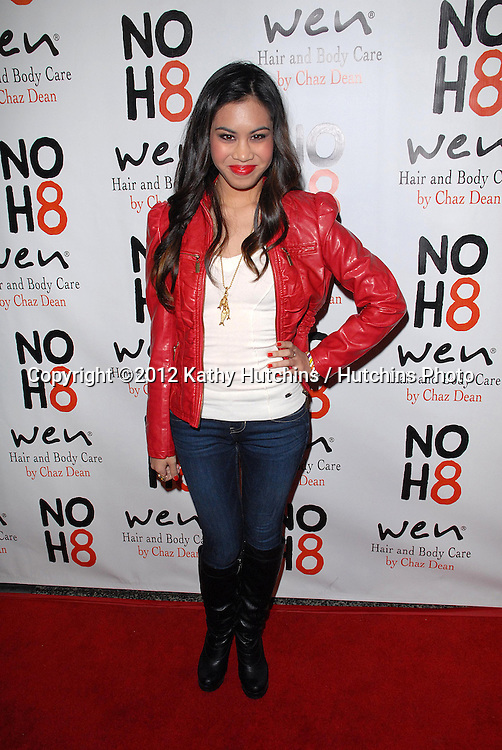 LOS ANGELES - DEC 12:  Ashley Argota arrives to the NOH8 4th Anniversary Party at Avalon on December 12, 2012 in Los Angeles, CA