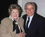 Rosemary  Clooney and Tony Bennett pictured at the opening night of Rosemary Clooney singing Nelson Riddle at Rainbow and Starts in New York City on Febuary 6, 1996.