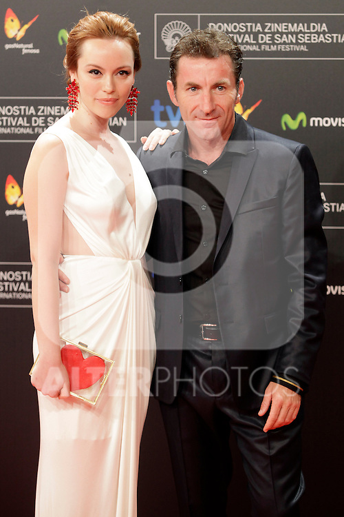 "Actor Antonio de la Torre (R) and Olimpia Melinte  posse in the photocall of the ""Canibal"" film presentation during the 61 San Sebastian Film Festival, in San Sebastian, Spain. September 23, 2013. (ALTERPHOTOS/Victor Blanco)"